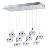 ET2 Lighting - Swank - LED 10-Light Linear Pendant in Natural Aged Brass