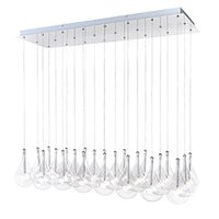 "ET2 Lighting - Larmes - 12"" 24-Light Chandelier in Polished Chrome with Clear Glass"