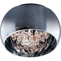 "ET2 Lighting - Sense - 20"" 6-Light Flush Mount in Polished Chrome with Mirror Chrome Glass"