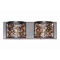 ET2 Lighting - Inca - Inca 2-Light Wall Mount W/LED Bulb in Bronze