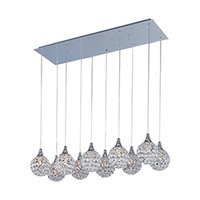 ET2 Lighting - Brilliant - Brilliant 10-Light Pendant in Polished Chrome