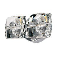 "ET2 Lighting - Clearance - 9"" 2-Light Wall Mount in Polished Chrome with Crystal"