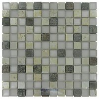 "Distinctive Glass Tile - Glass & Art Stone Mosaic - 11 3/4"" x 11 3/4"" Glass & Stone Mosaic in Pompeii"