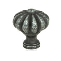 "Home Adorned - Traditional - 1 1/4"" Diameter Flower Knob in Tumbled Pewter"