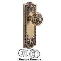 Grandeur Door Hardware - Parthenon - Grandeur Parthenon Plate Privacy with Windsor Knob in Satin Nickel