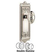 Grandeur Door Hardware - Windsor - Windsor Plate Privacy with Grande Victorian knob in Satin Nickel