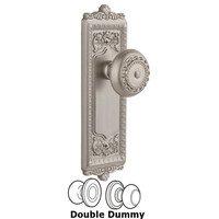 Grandeur Door Hardware - Windsor - Windsor Plate Privacy with Parthenon knob in Satin Nickel