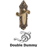 Grandeur Door Hardware - Grande Victorian - Grandeur Grande Victorian Plate Double Dummy with Newport Lever in Vintage Brass