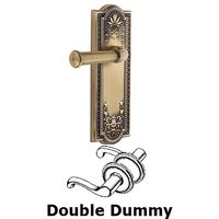Grandeur Door Hardware - Parthenon - Privacy Parthenon Plate with Georgetown Left Handed Lever in Satin Nickel