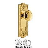 Grandeur Door Hardware - Parthenon - Grandeur Parthenon Plate Privacy with Circulaire Knob in Satin Nickel