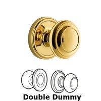 Grandeur Door Hardware - Georgetown - Grandeur Georgetown Plate Privacy with Circulaire Knob in Satin Nickel