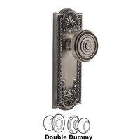 Grandeur Door Hardware - Parthenon - Grandeur Parthenon Plate Privacy with Soliel Knob in Satin Nickel