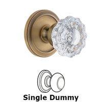 Grandeur Door Hardware - Circulaire - Grandeur Circulaire Rosette Privacy with Versailles Crystal Knob in Satin Nickel