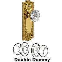 Grandeur Door Hardware - Parthenon - Privacy Knob - Parthenon Plate with Bordeaux Crystal Knob in Satin Nickel