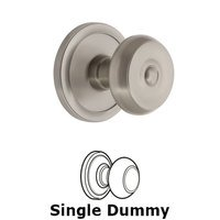 Grandeur Door Hardware - Circulaire - Grandeur Circulaire Rosette Privacy with Bouton Knob in Satin Nickel