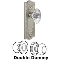Grandeur Door Hardware - Parthenon - Privacy Knob - Parthenon Plate with Burgundy Crystal Knob in Satin Nickel