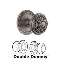Grandeur Door Hardware - Circulaire - Grandeur Circulaire Rosette Privacy with Windsor Knob in Satin Nickel