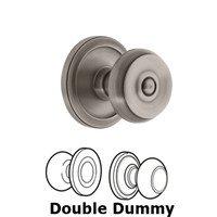 Grandeur Door Hardware - Circulaire - Grandeur Circulaire Rosette Privacy with Bouton Knob in Satin Nickel