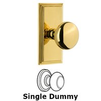 Grandeur Door Hardware - Carre - Grandeur Carre Plate Privacy with Fifth Avenue Knob in Satin Nickel