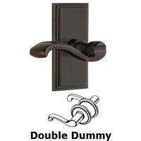 Grandeur Door Hardware - Carre - Privacy Carre Plate with Portofino Right Handed Lever in Satin Nickel