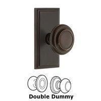 Grandeur Door Hardware - Carre - Grandeur Carre Plate Privacy with Circulaire Knob in Satin Nickel