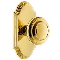 Grandeur Door Hardware - Arc - Grandeur Arc Plate Privacy with Circulaire Knob in Satin Nickel