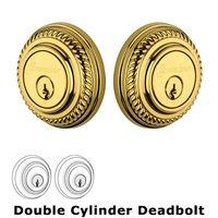 Grandeur Door Hardware - Newport - Grandeur Single Cylinder Deadbolt with Newport Plate in Timeless Bronze