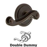 Grandeur Door Hardware - Circulaire - Privacy Circulaire Rosette with Newport Right Handed Lever in Satin Nickel