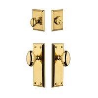Grandeur Door Hardware - Fifth Avenue - Fifth Avenue Plate With Eden Prairie Knob & Matching Deadbolt In Satin Nickel
