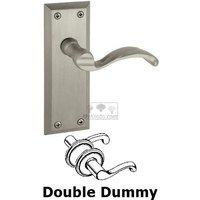 Grandeur Door Hardware - Fifth Avenue - Double Dummy Lever - Fifth Avenue Plate with Portofino Door Lever in Satin Nickel