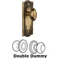 Grandeur Door Hardware - Parthenon - Privacy Knob - Parthenon Plate with Eden Prairie Door Knob in Satin Nickel