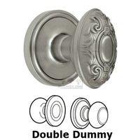 Grandeur Door Hardware - Georgetown - Privacy Knob - Georgetown Rosette with Grande Victorian Door Knob in Satin Nickel