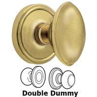 Grandeur Door Hardware - Georgetown - Privacy Knob - Georgetown Rosette with Eden Prairie Door Knob in Satin Nickel