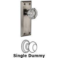 Grandeur Door Hardware - Fifth Avenue - Privacy Knob - Fifth Avenue Plate with Chambord Crystal Door Knob in Satin Nickel