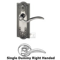 Grandeur Door Hardware - Parthenon - Privacy Parthenon Plate with Bellagio Left Handed Lever in Satin Nickel