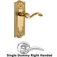 Grandeur Door Hardware - Parthenon - Privacy Parthenon Plate with Portofino Left Handed Lever in Satin Nickel