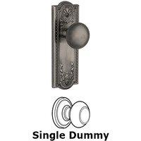 Grandeur Door Hardware - Parthenon - Privacy Knob - Parthenon Plate with Fifth Avenue Door Knob in Satin Nickel