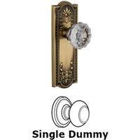 Grandeur Door Hardware - Parthenon - Privacy Knob - Parthenon Plate with Fontainebleau Crystal Door Knob in Satin Nickel