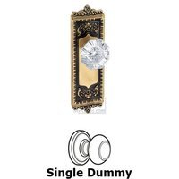 Grandeur Door Hardware - Windsor - Privacy Knob - Windsor Plate with Chambord Crystal Door Knob in Satin Nickel