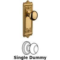 Grandeur Door Hardware - Windsor - Privacy Knob - Windsor Plate with Fifth Avenue Door Knob in Satin Nickel