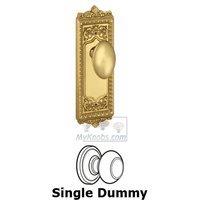 Grandeur Door Hardware - Windsor - Privacy Knob - Windsor Plate with Eden Prairie Door Knob in Satin Nickel