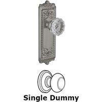 Grandeur Door Hardware - Windsor - Privacy Knob - Windsor Plate with Fontainebleau Crystal Door Knob in Satin Nickel