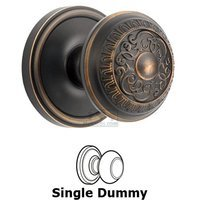 Grandeur Door Hardware - Georgetown - Single Dummy Knob - Georgetown Rosette with Windsor Door Knob in Timeless Bronze