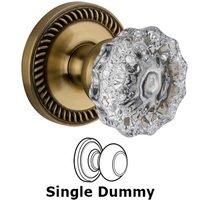 Grandeur Door Hardware - Newport - Privacy Knob - Newport Rosette with Versailles Crystal Door Knob in Satin Nickel