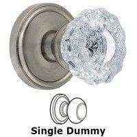 Grandeur Door Hardware - Georgetown - Privacy Knob - Georgetown Rosette with Versailles Crystal Door Knob in Satin Nickel