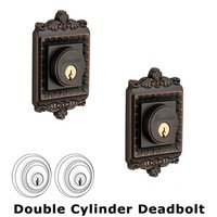 Grandeur Door Hardware - Windsor - Double Deadlock - Windsor Deadbolt in Timeless Bronze