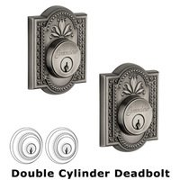 Grandeur Door Hardware - Parthenon - Double Deadlock - Parthenon Deadbolt in Antique Pewter
