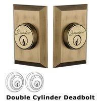 Grandeur Door Hardware - Fifth Avenue - Grandeur Single Cylinder Deadbolt with Fifth Avenue Plate in Timeless Bronze