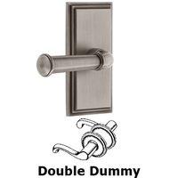 Grandeur Door Hardware - Carre - Privacy Carre Plate with Georgetown Lever in Satin Nickel