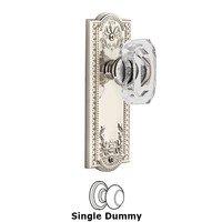 Grandeur Door Hardware - Parthenon - Parthenon - Privacy Knob with Baguette Clear Crystal Knob in Satin Nickel